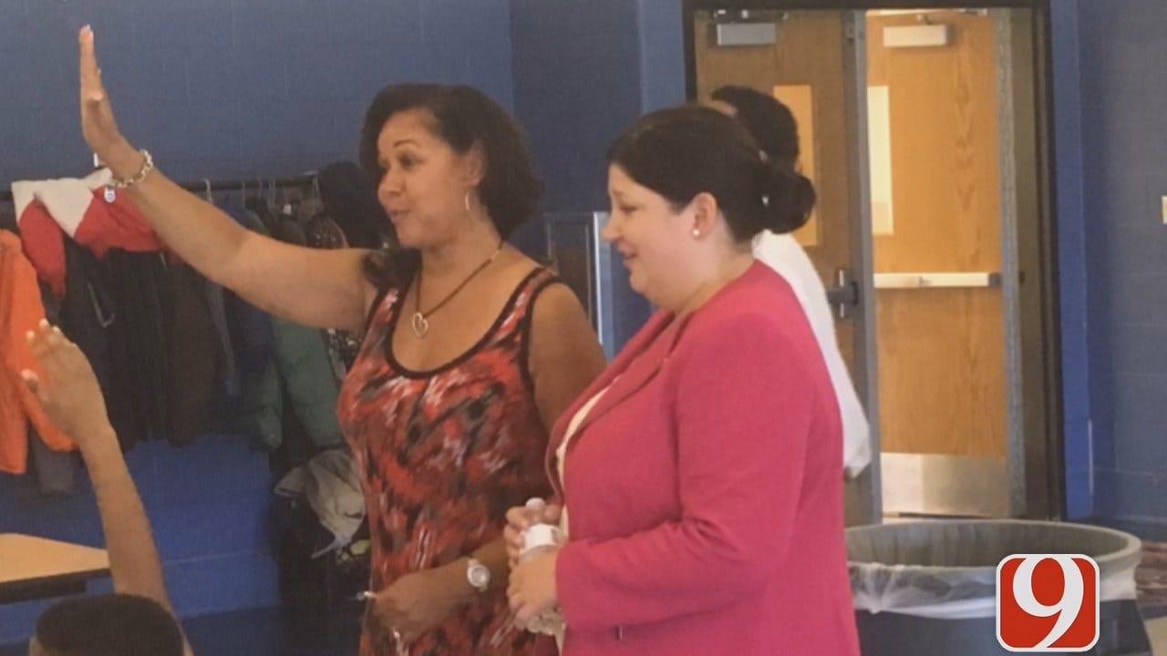WEB EXTRA: Dana Hertneky Follows OKCPS' First Day Of School