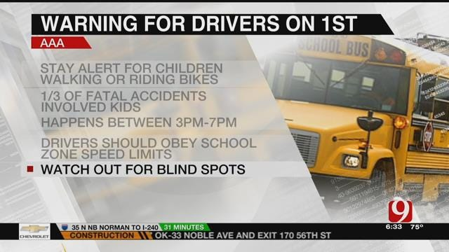 First Day Of School In OKC: AAA Warns Drivers To Stay Alert