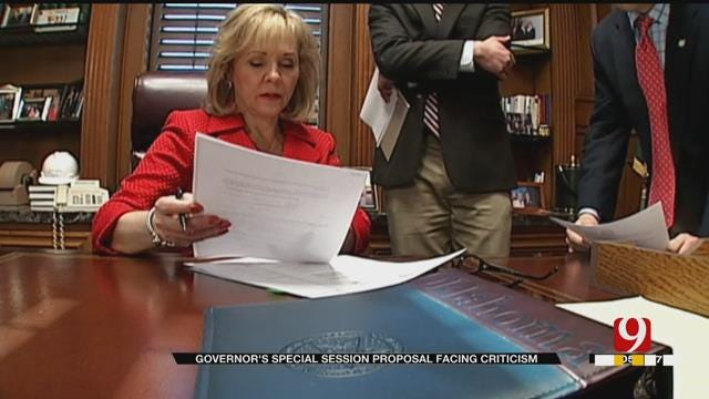 Fallin's Plan To Use Surplus Money For Teacher Raises Could Be Unconstitutional