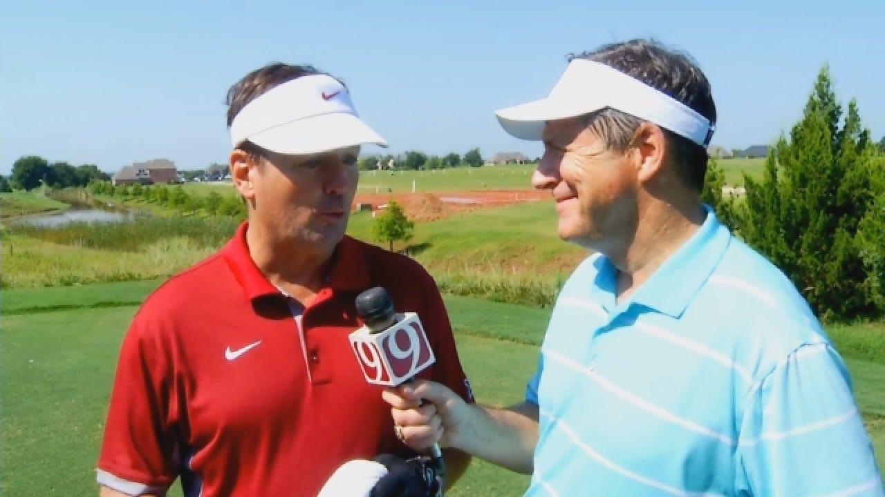 Bob Stoops Discusses Upcoming Season at OU Football Golf Outing