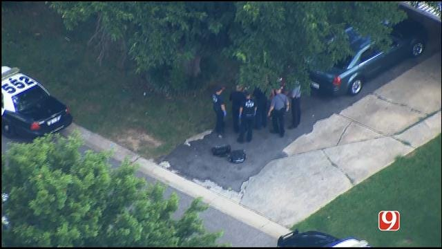 WEB EXTRA: SkyNews 9 Flies Over Reported Shooting In SW OKC