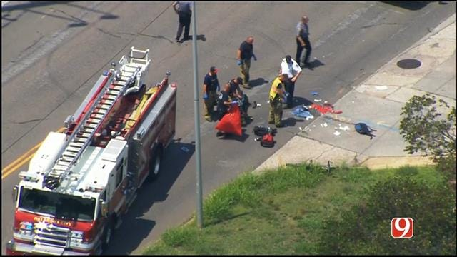 WEB EXTRA: SkyNews 9 Flies Over Scene Of Hit-And-Run Crash Involving Bicycle