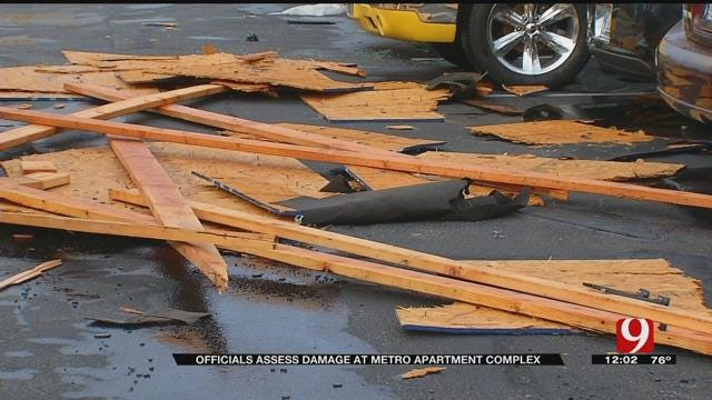 More Than A Dozen Displaced After Storms Damage OKC Apartment Complex