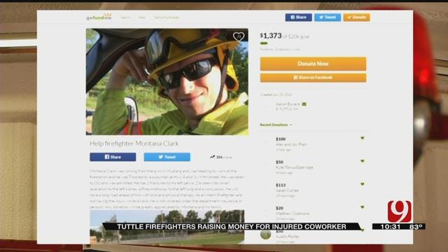 Tuttle Firefighters Raise Money For Injured Coworker