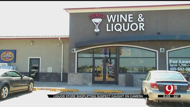 OKC Liquor Store Shoplifting Suspect Caught On Camera