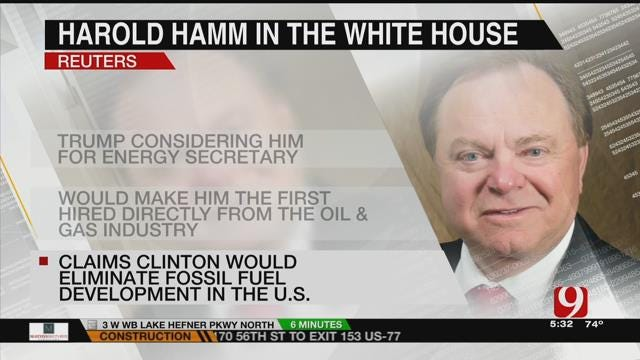 Reports: Trump Considering Harold Hamm For Energy Secretary If Elected