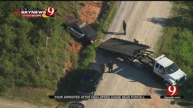 Four Teens Arrested After High Speed Chase Near Purcell
