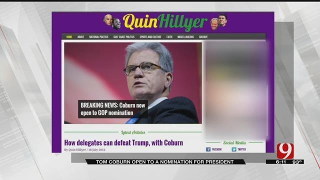 Tom Coburn Open To Nomination For President