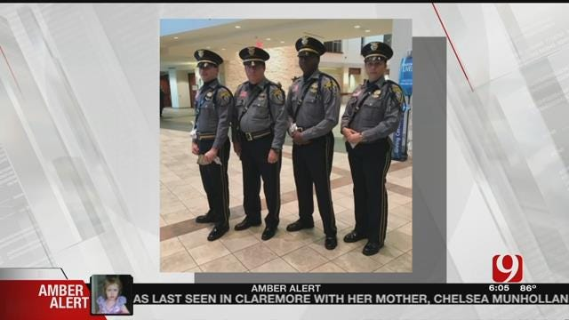 Oklahoma Honor Guard Members Attend Police Officer Funerals In Dallas