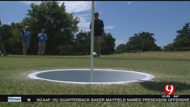 Norman North Soccer Team Plays Foot Golf to Switch Things Up