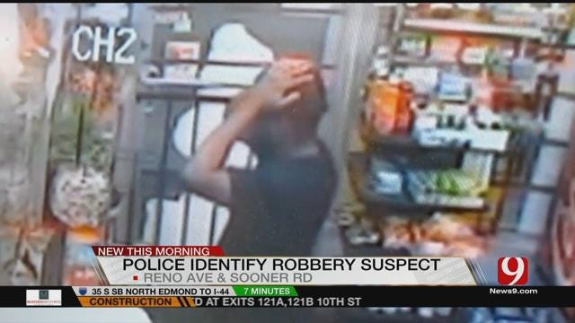 MWC Police Release Video Of Armed Robbery Suspect