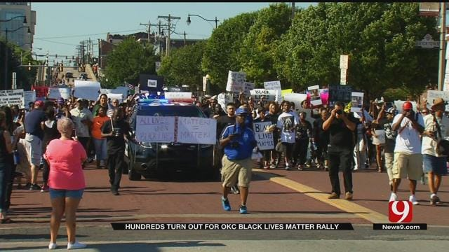 Thousands March Into Bricktown, Participate In Black Lives Matter Rally