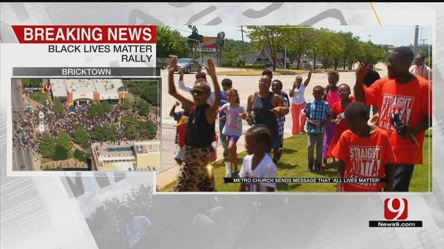 NE OKC Church Marches In Support Of 'All Lives Matter'