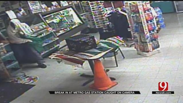 Break-In At Metro Gas Station Caught On Camera