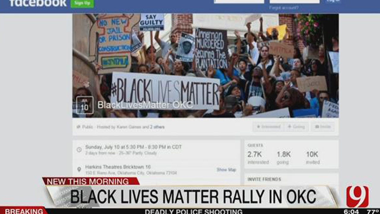 """""""Black Lives Matter"""" Rally Still Scheduled For This Weekend In OKC"""