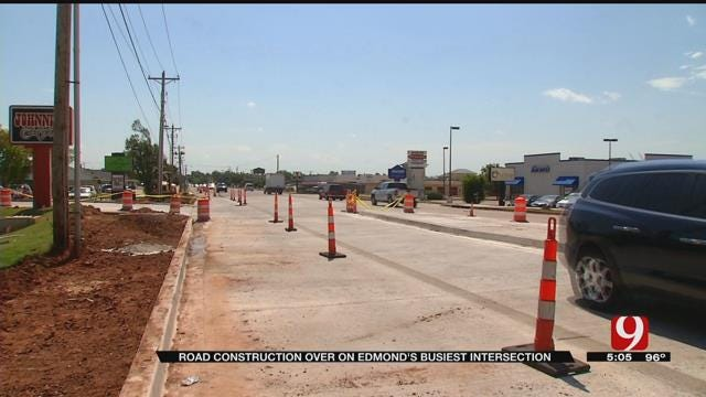 Road Construction Over On Edmond's Busiest Intersection