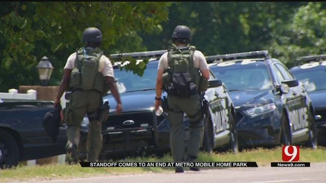 Police Find Two Bodies Inside SW OKC Mobile Home After Standoff