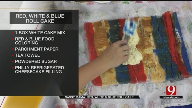 Red, White & Blue Roll Cake