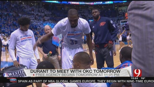 Kevin Durant to Meet With Thunder on Thursday