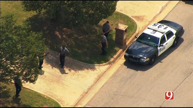 WEB EXTRA: Bob Mills SkyNews 9 HD Flies Over Reported Shooting In NW OKC