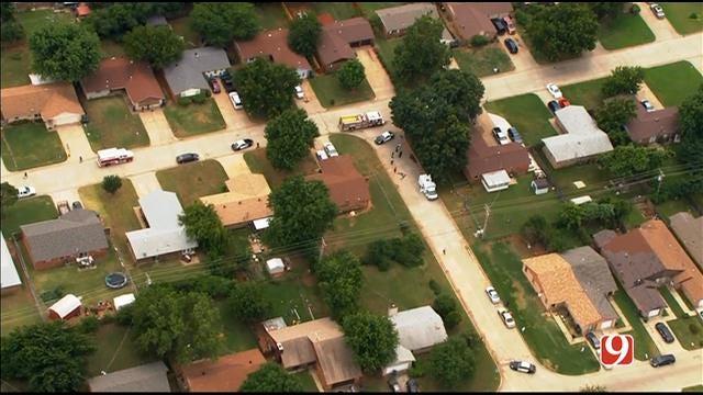WEB EXTRA: SkyNews 9 Flies Over Deadly Shooting MWC Neighborhood