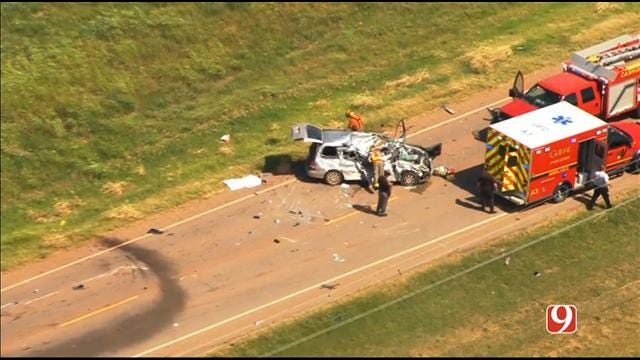 WEB EXTRA: Bob Mills SkyNews 9 HD Flies Over Fatality Crash In Logan Co.