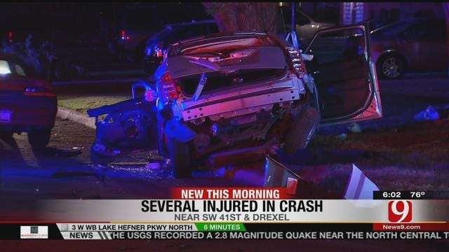 Four Hospitalized After Collision In SW OKC
