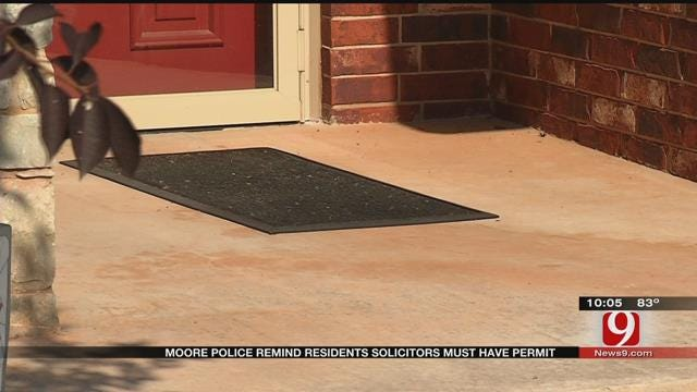 Moore Police Reminding Residents Solicitors Must Have Permit