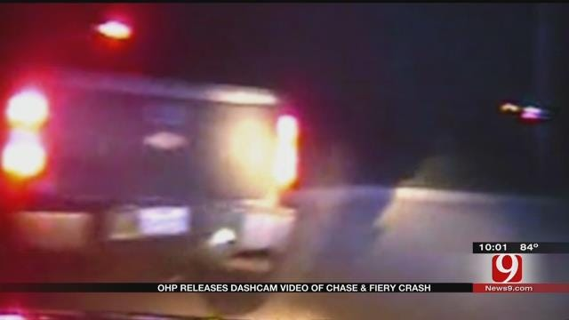 OHP Releases Dash Cam Video Of Chase, Fiery Crash