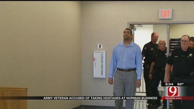 Opening Statements In Trial Of Man Accused Of Taking Hostages At Norman Business