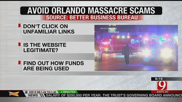 Better Business Bureau Warns Of Scams Following Orlando Tragedy