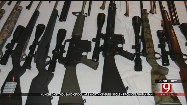 Estimated $100,000 Worth Of Guns, Other Valuables Stolen In Dewey County
