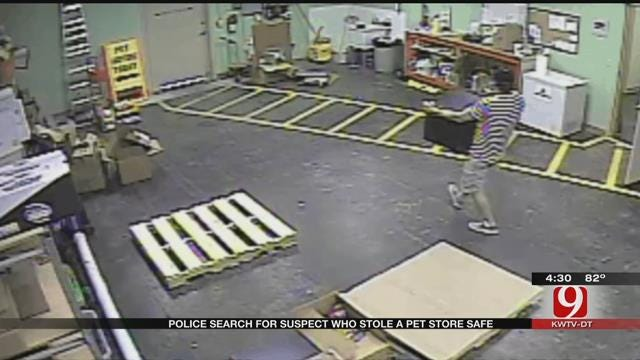 Police Search For Brazen Thief Who Stole Pet Store Safe