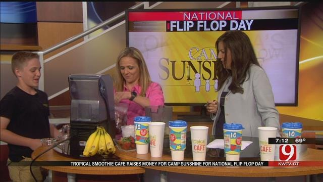 Tropical Smoothie Cafe Raises Money For Camp Sunshine For National Flip Flop Day