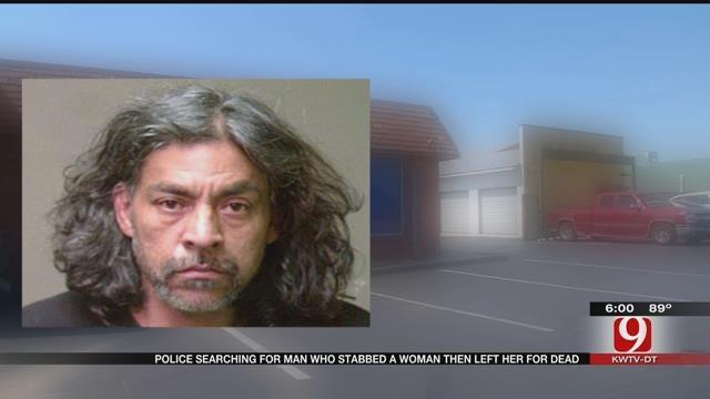 OKC Police Searching Man Accused Of Stabbing Woman, Leaving Her To Die