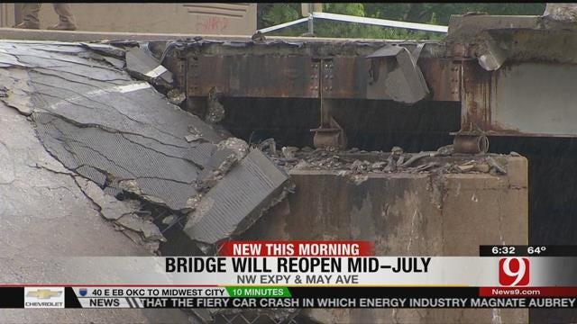 Reports: May Ave. Bridge Over NW Expressway To Reopen By Mid-July