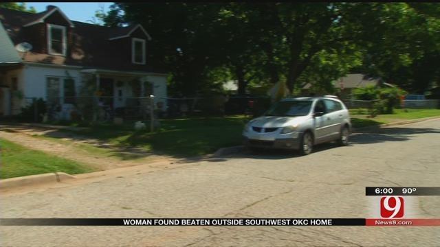 Woman Found Beaten Outside Southeast OKC Home