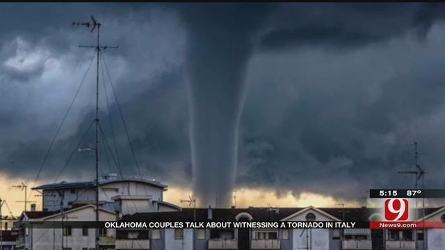 MWC Couple Speaks To News 9 About Seeing Tornado In Italy