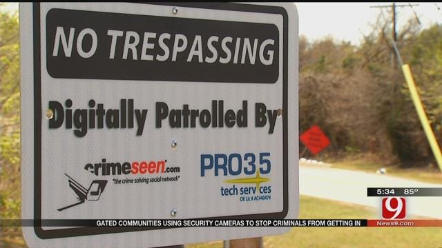 NW OKC Neighborhood Use Cameras To Deter 'Tailgating'
