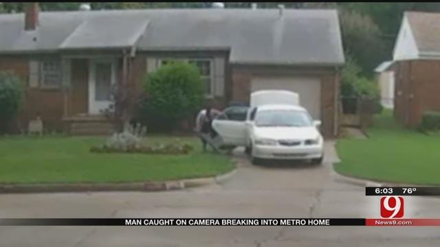 Police Look For Man Caught On Camera Breaking Into Metro Home