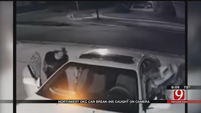 Surveillance Video Captures Photos Of Men Burglarizing Cars In NW OKC
