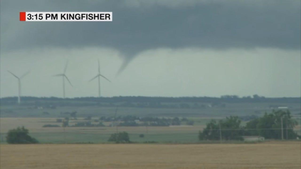 WEB EXTRA: News 9 StormTracker Val Castor Spots A Tornado Near Okarche