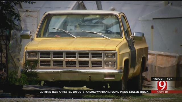 Guthrie Man Found In Stolen Pickup, Arrested On Outstanding Warrant