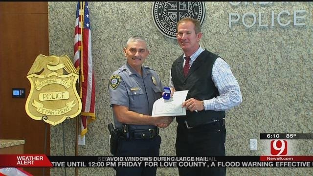 Officer Honored For More Than 3 Decades Of Service With OCPD
