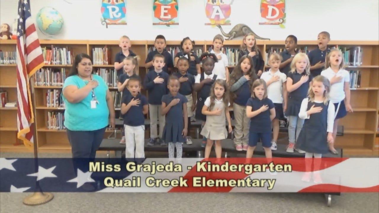 Miss Grajeda'sKindergarten Class At Quail Creek Elementary
