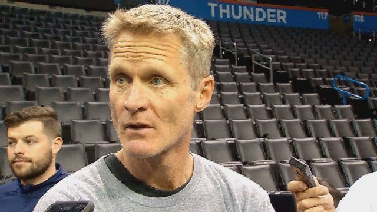 Steve Kerr Discusses Game 3 Of West Finals After Saturday's Practice