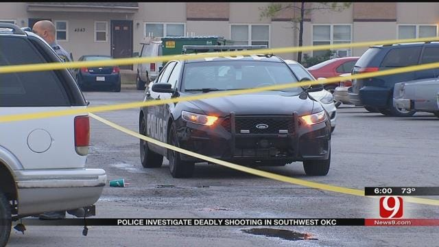 Police Investigation Deadly Apartment Complex Shooting In SW OKC