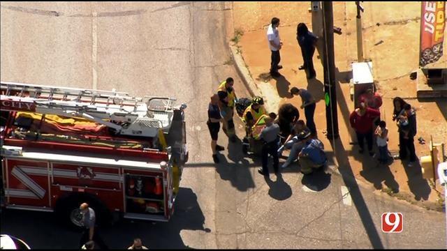 WEB EXTRA: Bob Mills SkyNews 9 HD Flies Over Injury Crash In SW OKC