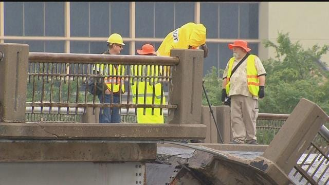 City Officials Talk Repairs Following May Ave. Bridge Collapse Onto NW Expressway