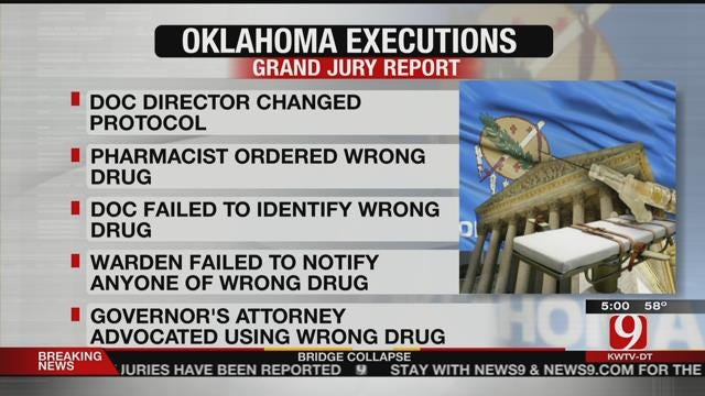 Grand Jury Investigating Oklahoma Executions Delivers Report